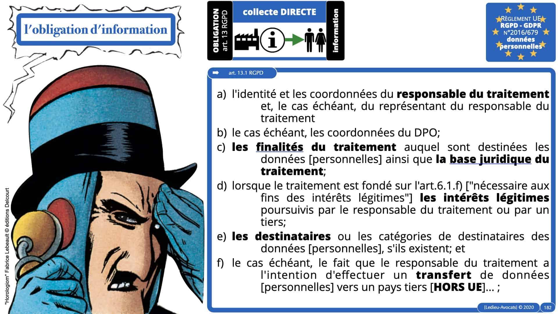 RGPD e-Privacy données personnelles jurisprudence formation Lamy Les Echos 10-02-2021 ©Ledieu-Avocats.182