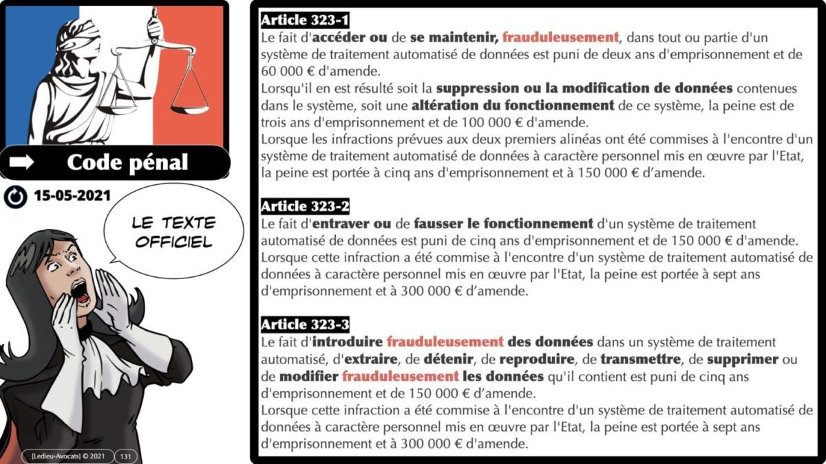 333 CYBER ATTAQUE responsabilité pénale civile contrat © Ledieu-Avocats 23-05-2021.131