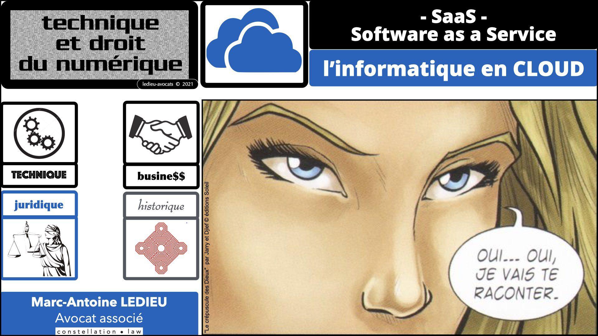 service LOGICIEL SaaS 2021 : technique juridique et même historique !