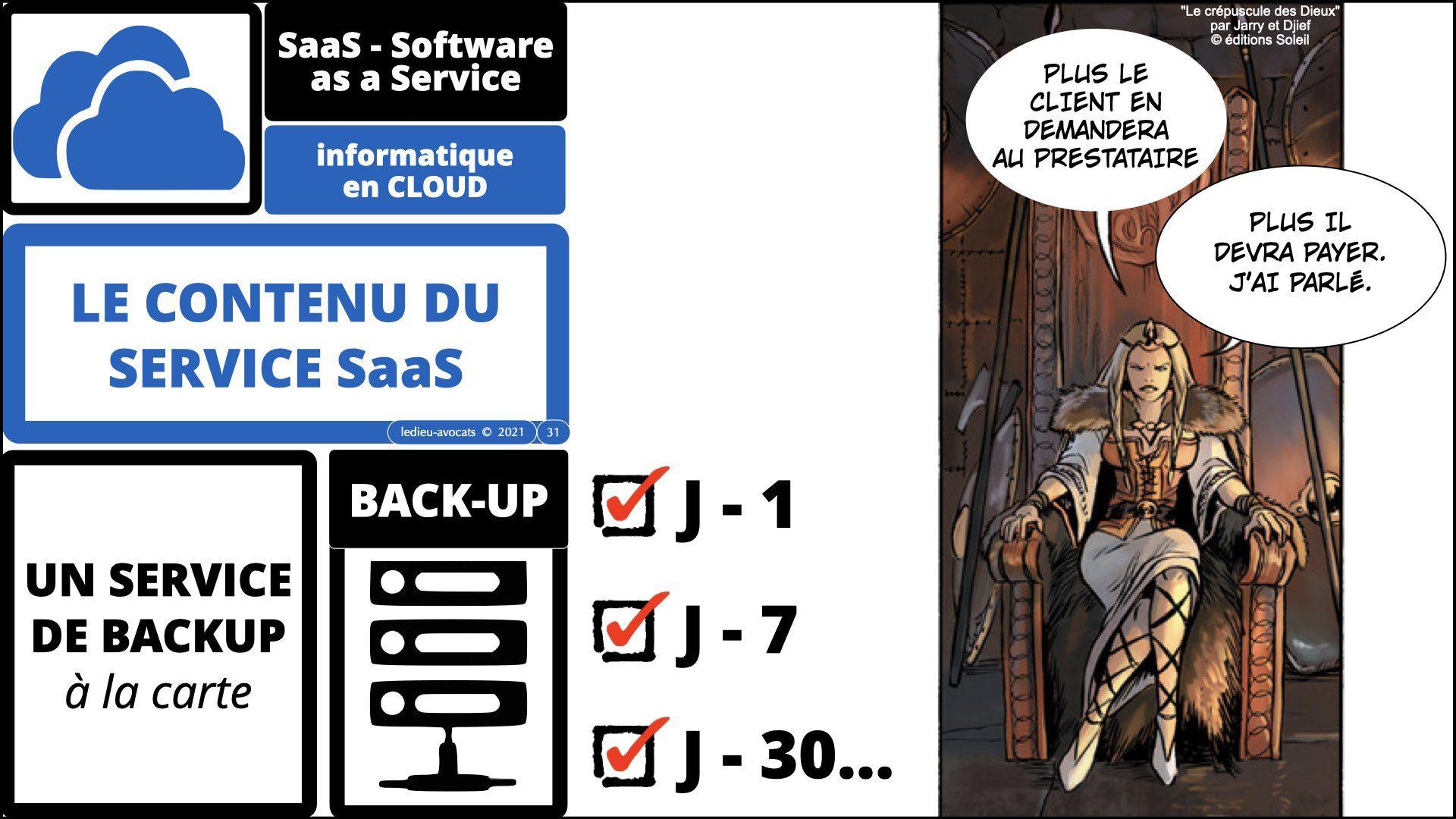 service logiciel SaaS 2021 : des backups ?