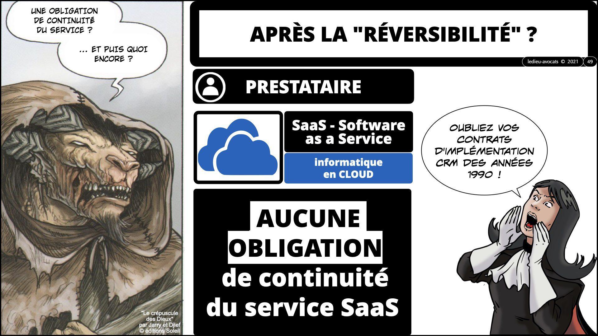 service LOGICIEL SaaS : AUCUNE obligation de continuité du service SaaS après le contrat !