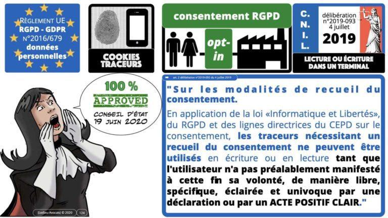 306 RGPD et jurisprudence e-Privacy données-personnelles 16:9 ©Ledieu-Avocats 05-10-2020 formation Les Echos Lamy Conference.124