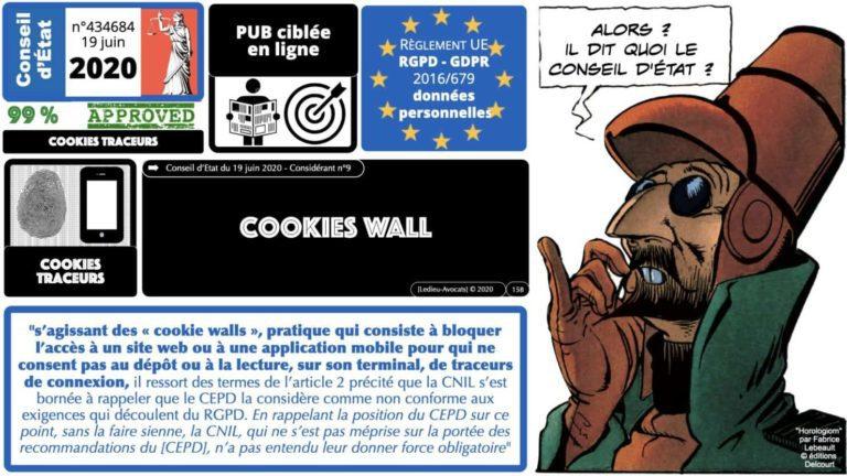 RGPD et jurisprudence Conseil d'Etat 2020 cookie wall