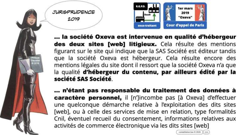 306 RGPD et jurisprudence e-Privacy données-personnelles 16:9 ©Ledieu-Avocats 05-10-2020 formation Les Echos Lamy Conference.233