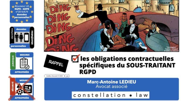 306 RGPD et jurisprudence e-Privacy données-personnelles 16:9 ©Ledieu-Avocats 05-10-2020 formation Les Echos Lamy Conference.239