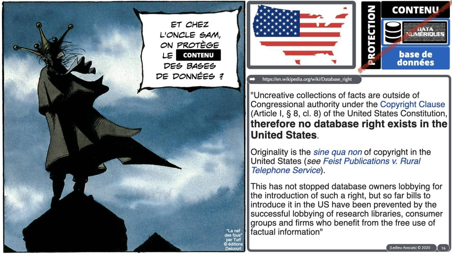 bases de données UE vs USA