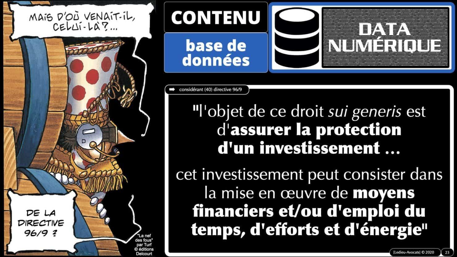 bases de données l'investissement producteur