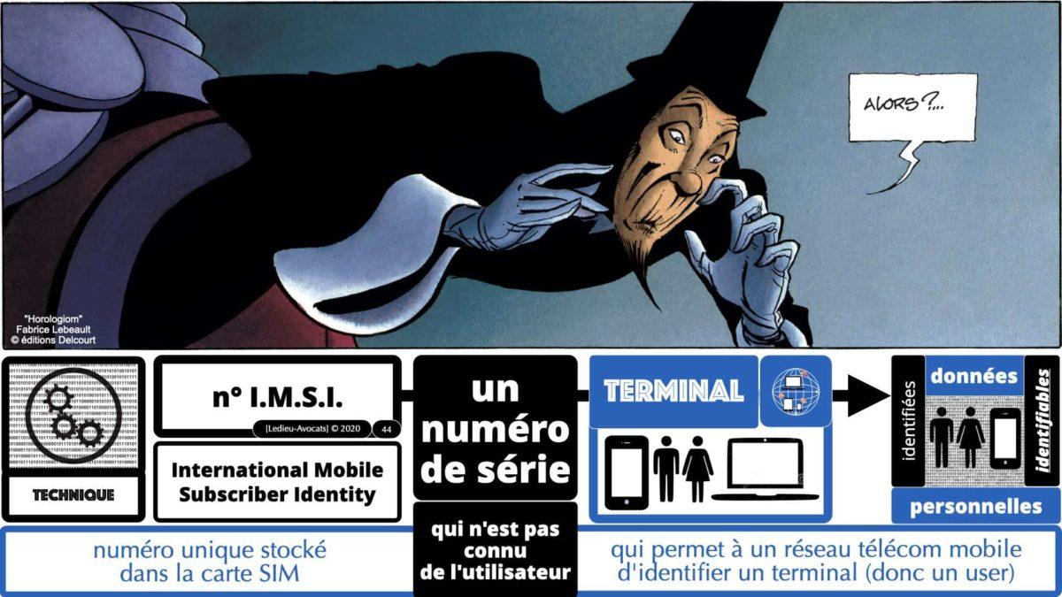 métadonnées données personnelles : identifier un terminal avec son numéro IMSI...
