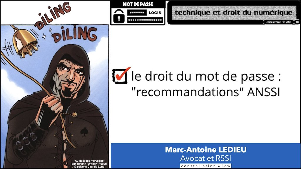 347 droit MOT PASSE authentification ANSSI + CNIL + jurisprudence 2018->2021 © Ledieu-Avocats technique droit numérique.018
