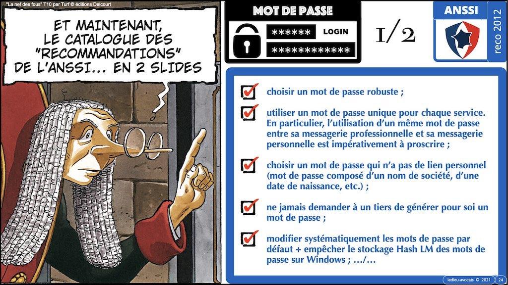 347 droit MOT PASSE authentification ANSSI + CNIL + jurisprudence 2018->2021 © Ledieu-Avocats technique droit numérique.024