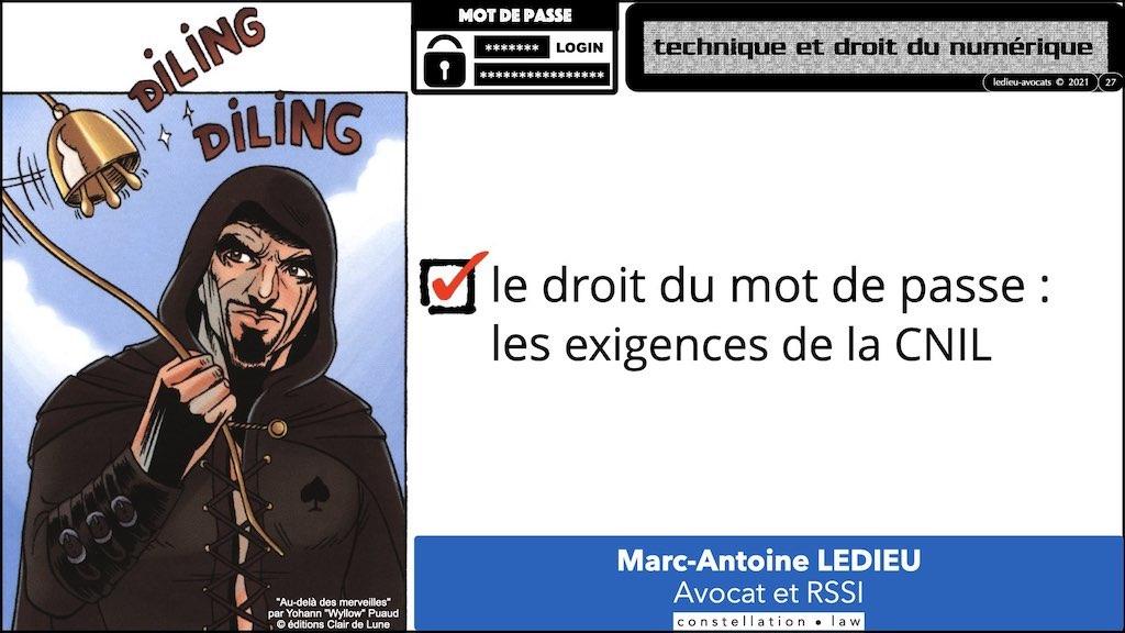 347 droit MOT PASSE authentification ANSSI + CNIL + jurisprudence 2018->2021 © Ledieu-Avocats technique droit numérique.027
