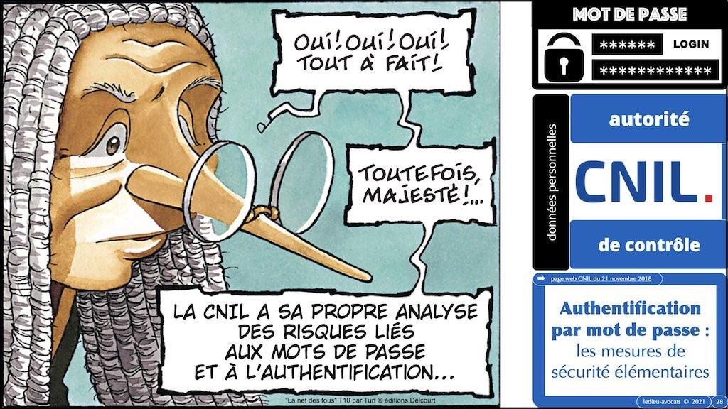 347 droit MOT PASSE authentification ANSSI + CNIL + jurisprudence 2018->2021 © Ledieu-Avocats technique droit numérique.028
