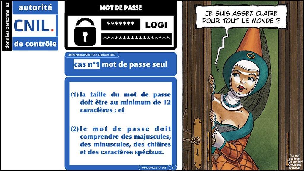 347 droit MOT PASSE authentification ANSSI + CNIL + jurisprudence 2018->2021 © Ledieu-Avocats technique droit numérique.031