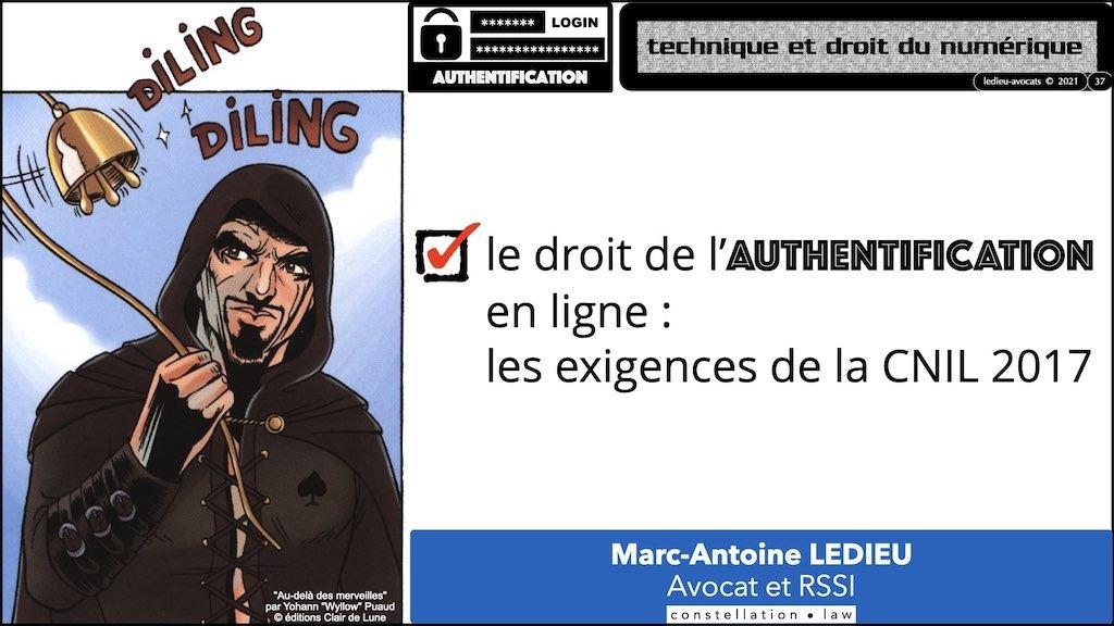 347 droit MOT PASSE authentification ANSSI + CNIL + jurisprudence 2018->2021 © Ledieu-Avocats technique droit numérique.037