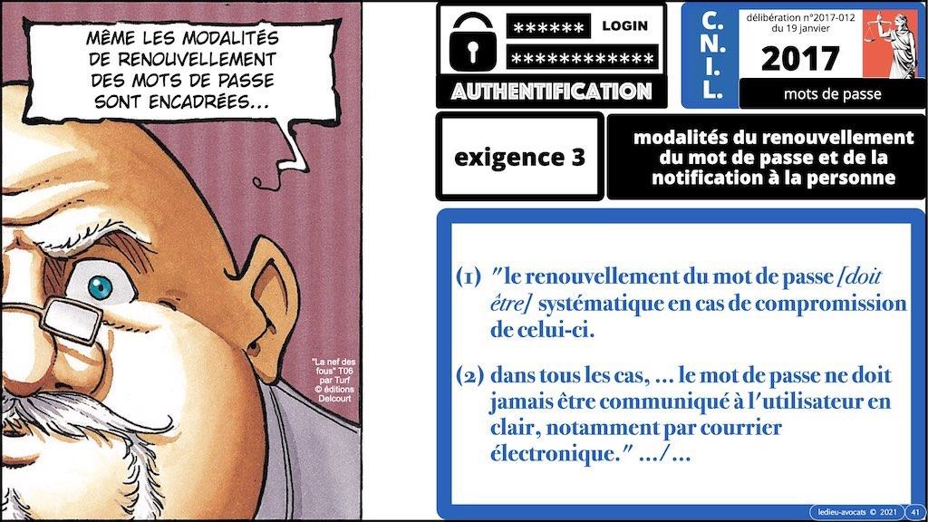 347 droit MOT PASSE authentification ANSSI + CNIL + jurisprudence 2018->2021 © Ledieu-Avocats technique droit numérique.041