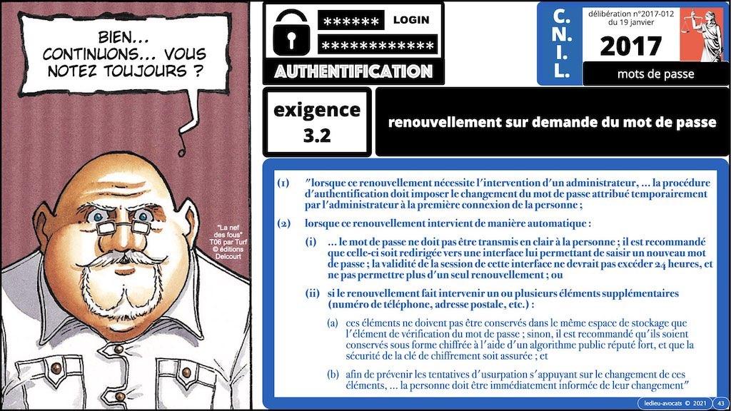 347 droit MOT PASSE authentification ANSSI + CNIL + jurisprudence 2018->2021 © Ledieu-Avocats technique droit numérique.043