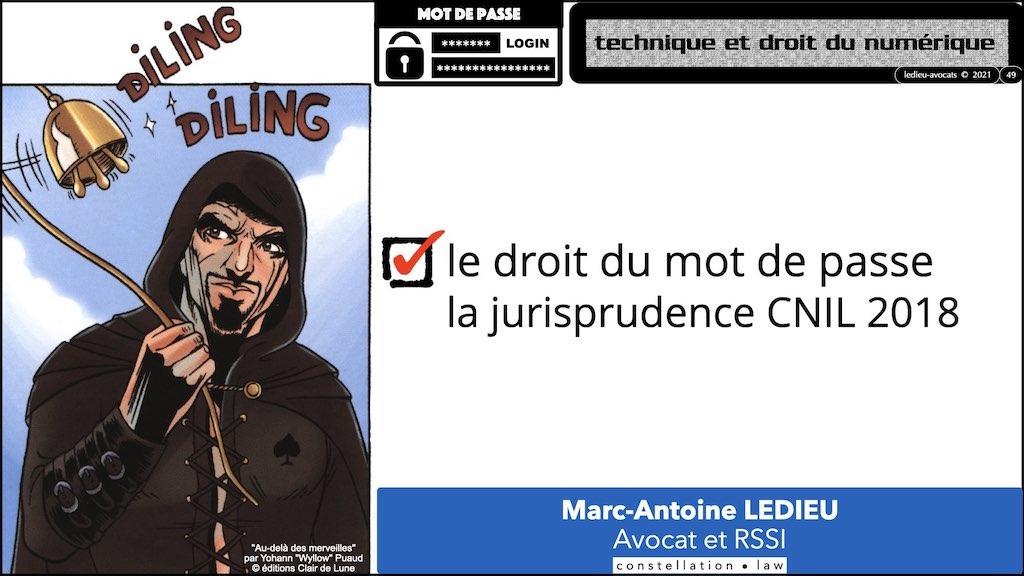 347 droit MOT PASSE authentification ANSSI + CNIL + jurisprudence 2018->2021 © Ledieu-Avocats technique droit numérique.049