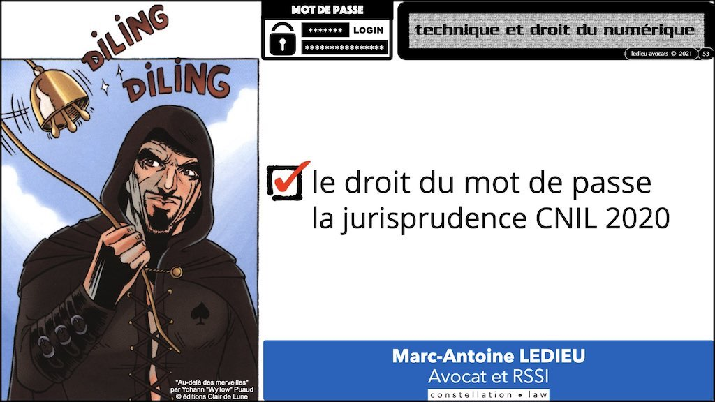 347 droit MOT PASSE authentification ANSSI + CNIL + jurisprudence 2018->2021 © Ledieu-Avocats technique droit numérique.053