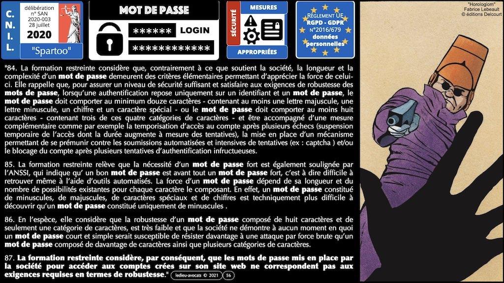 347 droit MOT PASSE authentification ANSSI + CNIL + jurisprudence 2018->2021 © Ledieu-Avocats technique droit numérique.056