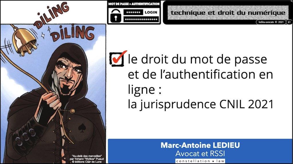 347 droit MOT PASSE authentification ANSSI + CNIL + jurisprudence 2018->2021 © Ledieu-Avocats technique droit numérique.061