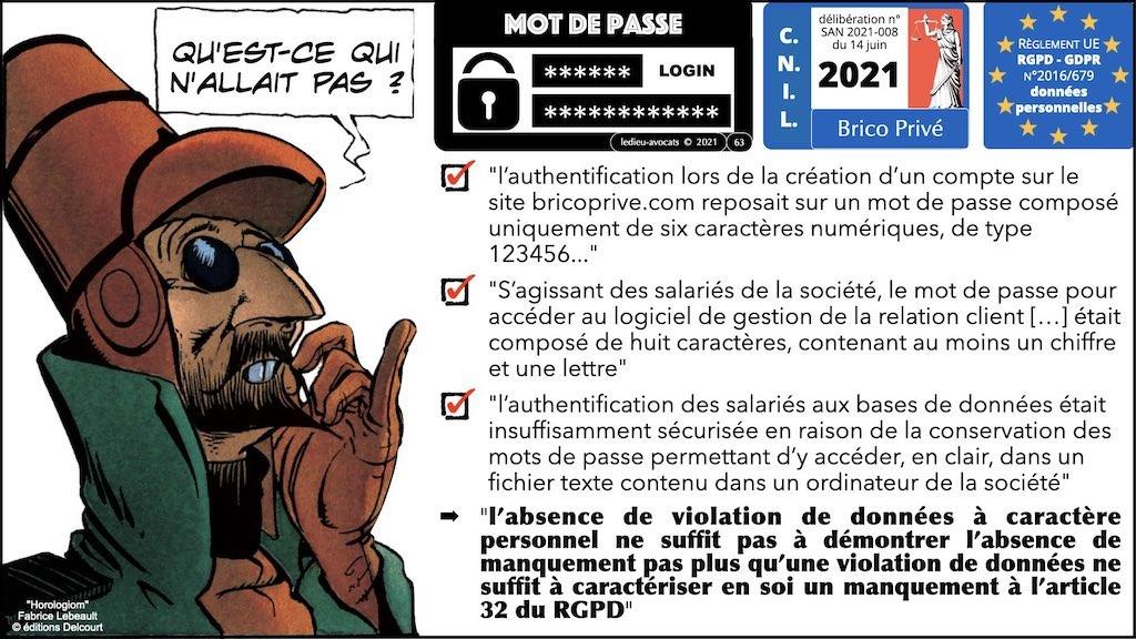 347 droit MOT PASSE authentification ANSSI + CNIL + jurisprudence 2018->2021 © Ledieu-Avocats technique droit numérique.063