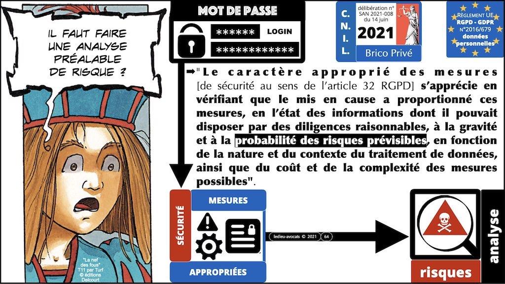 347 droit MOT PASSE authentification ANSSI + CNIL + jurisprudence 2018->2021 © Ledieu-Avocats technique droit numérique.064