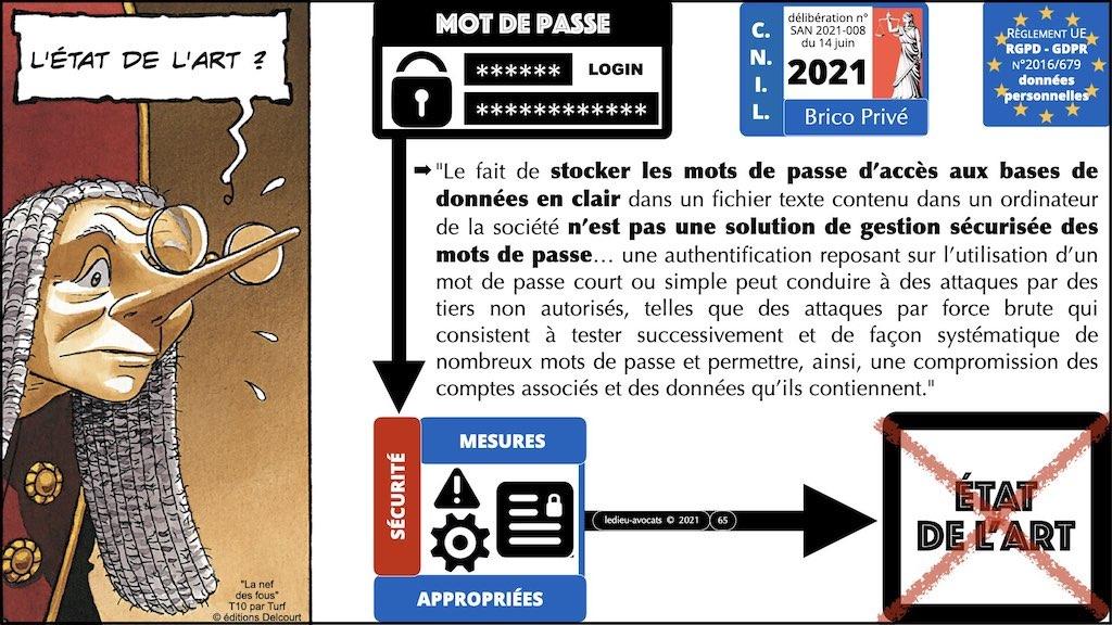 347 droit MOT PASSE authentification ANSSI + CNIL + jurisprudence 2018->2021 © Ledieu-Avocats technique droit numérique.065