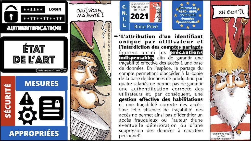 347 droit MOT PASSE authentification ANSSI + CNIL + jurisprudence 2018->2021 © Ledieu-Avocats technique droit numérique.067