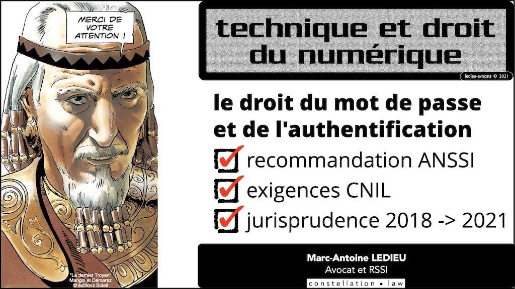 347 droit MOT PASSE authentification ANSSI + CNIL + jurisprudence 2018->2021 © Ledieu-Avocats technique droit numérique.071